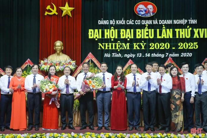 Đại hội Đại biểu Đảng bộ Khối Các cơ quan và doanh nghiệp Hà Tĩnh bầu 27 đồng chí vào Ban Chấp hành nhiệm kỳ mới