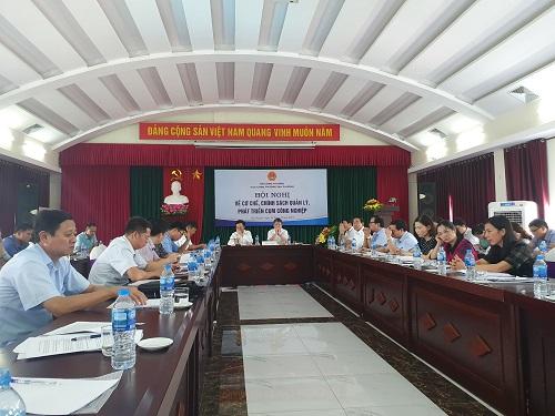 Hội nghị về cơ chế, chính sách quản lý, phát triển cụm công nghiệp